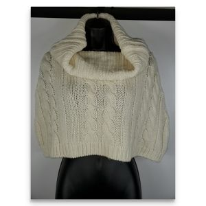 Talbots cowl neck sweater shrug size S/M cream